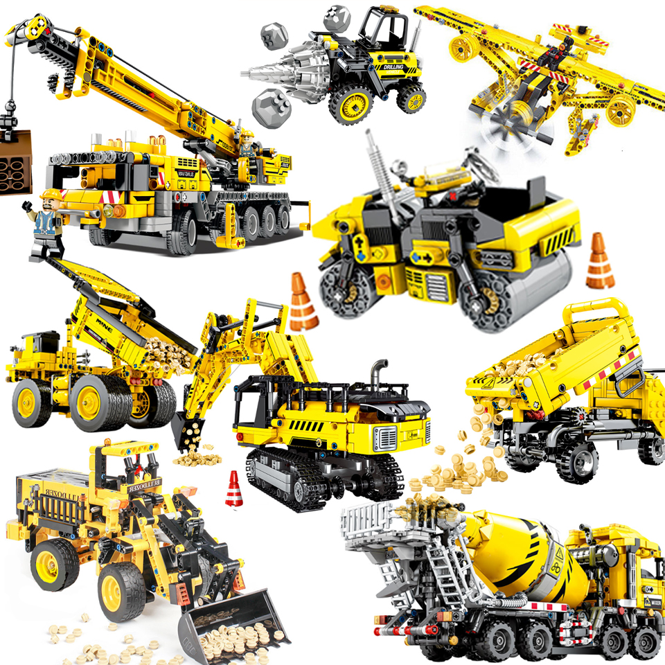NEW 701800 Mobile Crane MK II Sets Building Blocks Bricks Educational Technic series Technique Compatible legoinset <font><b>42009</b></font> image