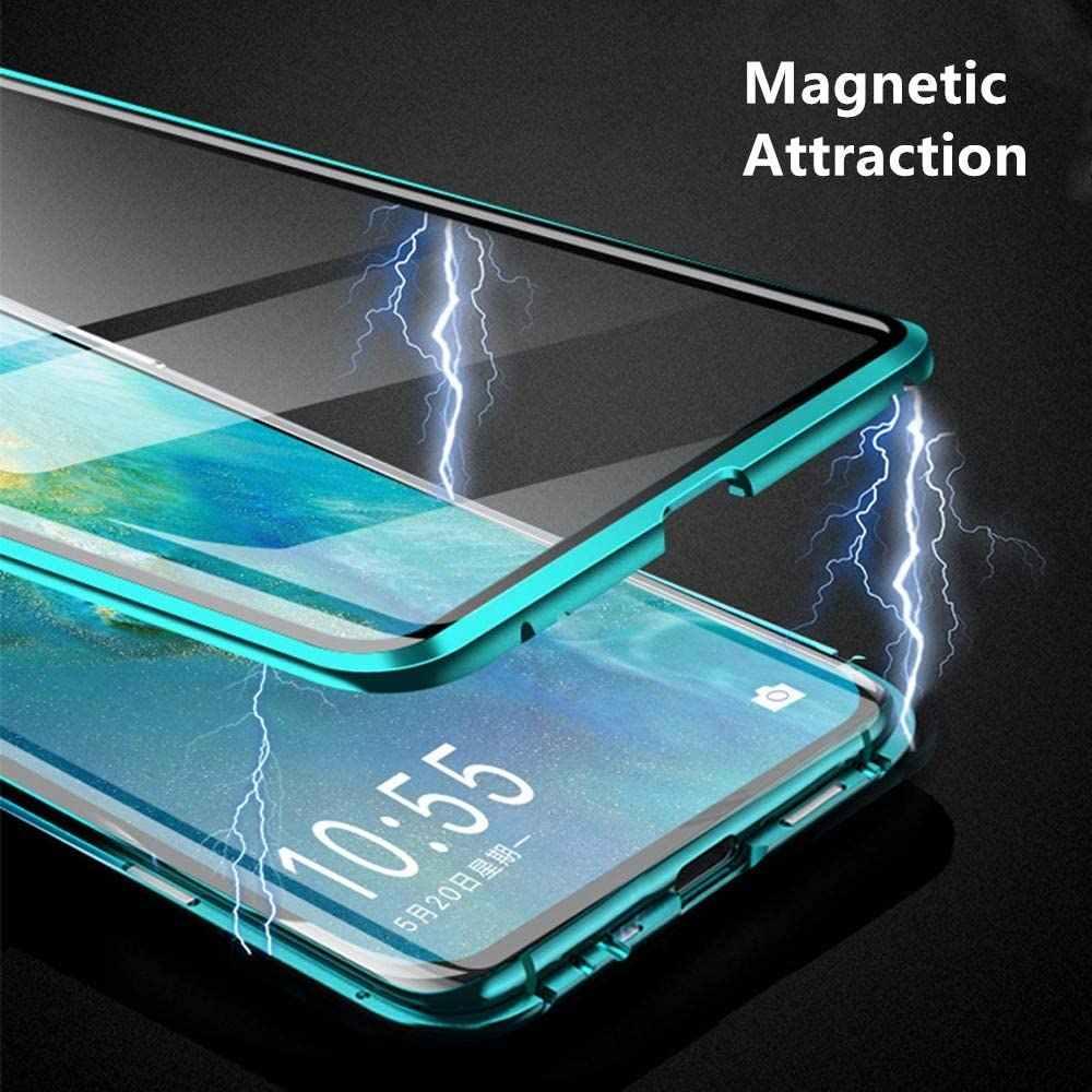 360 pieno Della Copertura del Magnete di Metallo Cassa Del Telefono Per Huawei P40 Pro P30 P20 Lite Compagno 30 20 10 Honor 10X 9X 8X Trasparente In Vetro Temperato