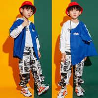 Детская Одежда для танцев в стиле хип-хоп Повседневная Толстовка с капюшоном штаны для бега для девочек и мальчиков, бальный костюм для танц...