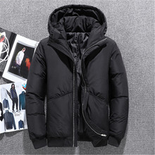 Winter Men Ski Jacket Multiple Pockets Thicken 80% White Duck Down Hooded Jackets Snow Overcoat Keep Warm Wind Proof