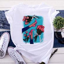 Свободная повседневная одежда летняя женская футболка с коротким