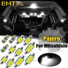 BMTxms para Mitsubishi Montero Shogun Pajero Sport 1, 2, 3, 4 1990-presente LED de cúpula Interior de coche Luz de mapa lámpara de placa de matrícula Canbus