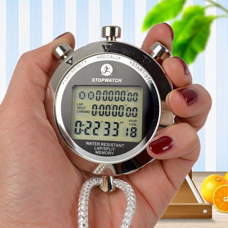 eletrônico cronógrafo alarme calendário para esportes