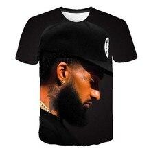 19ss Mens Summer Nipsey Hussle Tshirts 3D Printed Designer Hiphop RIP Tees Short Sleeved Tops