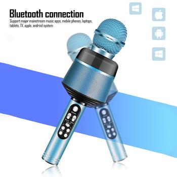 Mikrofon pojemnościowy profesjonalny dj Karaoke mic na PC studio mikrofony na telefon Bluetooth przenośne mikro mikrofony na zewnątrz tanie i dobre opinie Wzmacniacz mikrofonowy