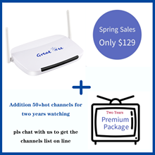 Latest Great bee Arabic tv box for iptv, Free shipping free for life whatch set top box,plus 2years extra hot ch*annel package