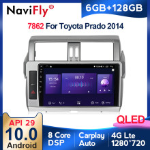 6G + 128G QLED Carplay Android 10 para Toyota Land Cruiser Prado 150 2013 - 2017 auto Radio Multimedia reproductor de Video GPS de navegación