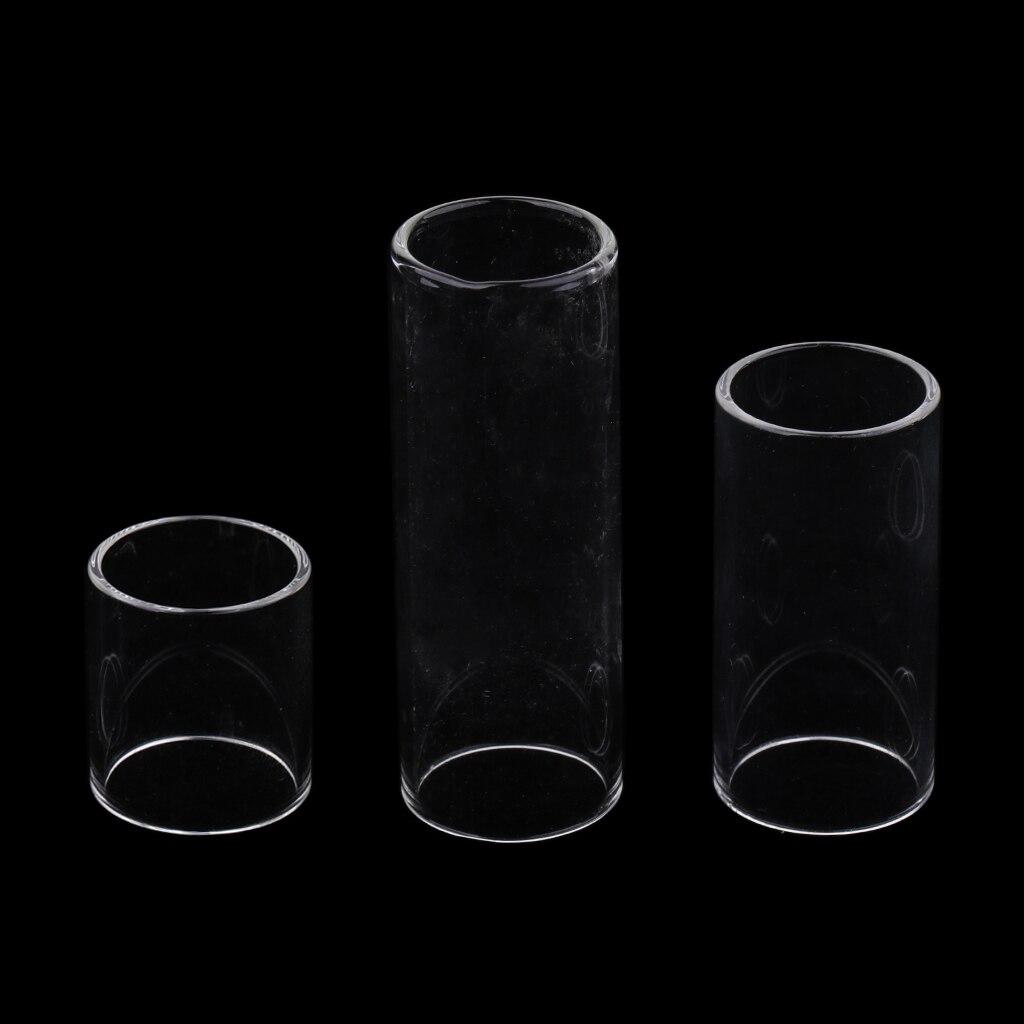 Set Of Glass Transparent Guitar Slide 28/50/69mm For Guitar Parts