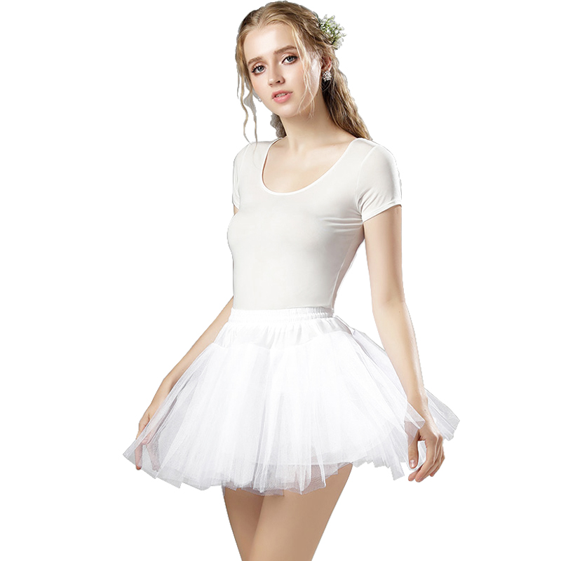 Summer Ladies Tulle Short Skirt Slim Neat Small Three-layer Soft Skirt Sexy Net Gauze White Mini Skirt Tutu Skirt Prom Skirt