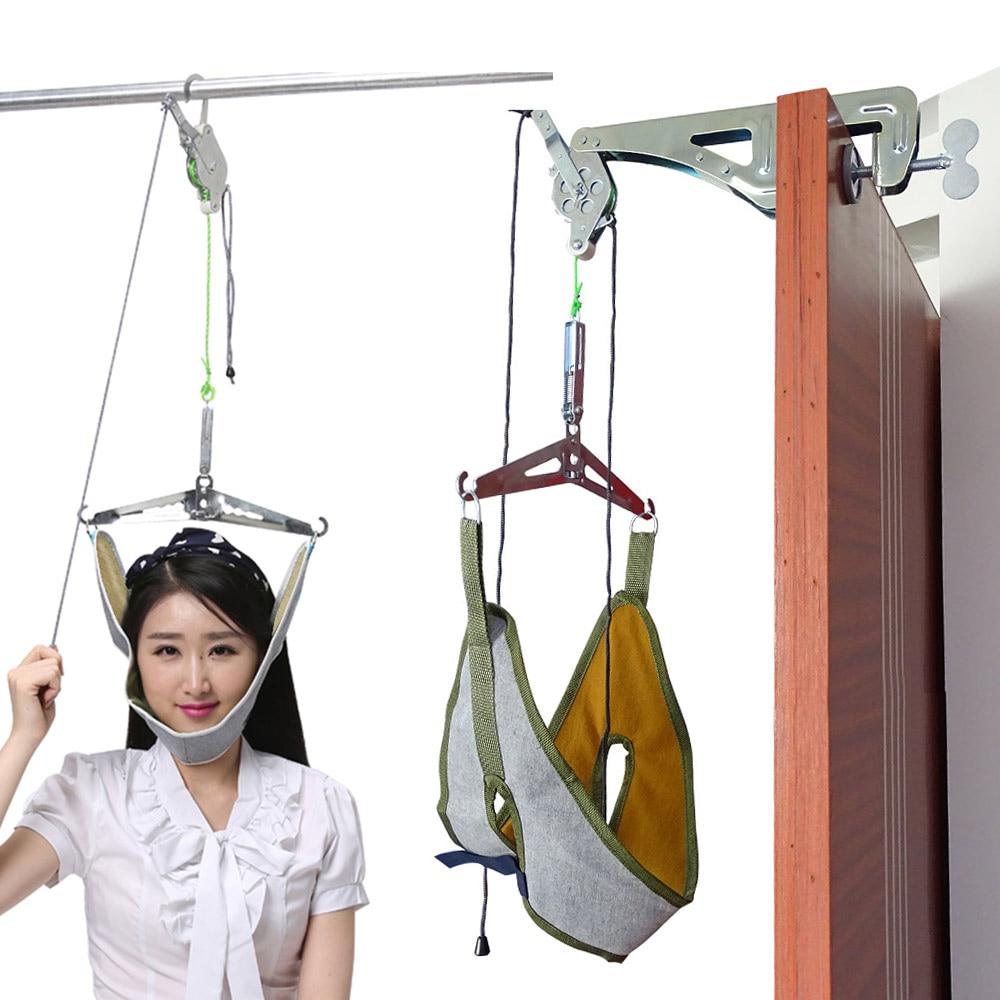 Over Door Neck Device Kit Stretcher Adjustment Chiropractic Back Head Massager Cervical Traction cervical neck traction device