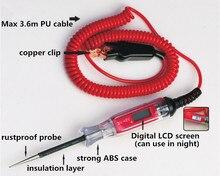 Testeur de Circuit numérique LCD universel 3 48V, testeur de tension automobile, stylo de camion, Scanner de Circuit, sonde dalimentation, outil de Diagnostic