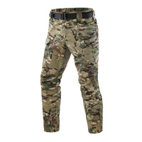 WHITE FISHTAIL Tactical Pants Outdoor Man Camo Thin Plaid Fabric Many Pocket Zip Military Style Black Men'S Cargo Pants