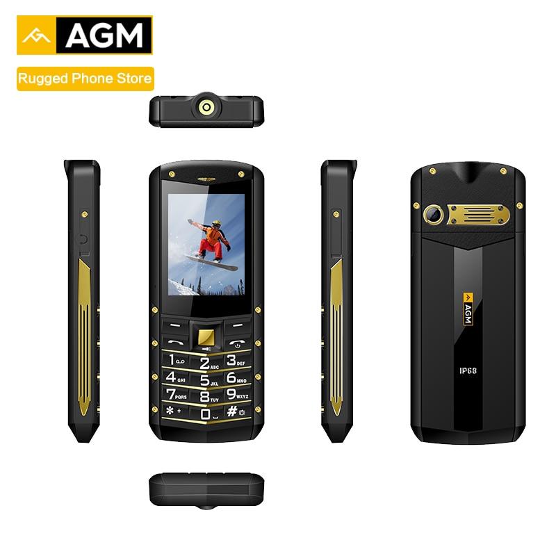 """AGM M2 2,4 """"прочный телефон Dual SIM задний 0.3MP Открытый Телефон IP68 водонепроницаемый противоударный фонарь-прожектор 1970 мАч"""