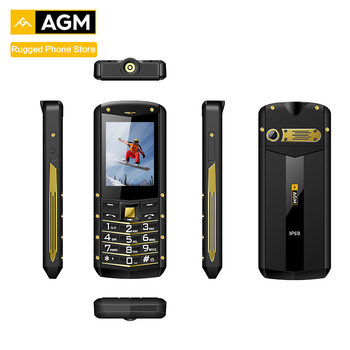 "AGM M2 2.4"" Rugged Phone Dual SIM Rear 0.3MP Outdoor Phone IP68 Waterproof Shockproof Flashlight 1970mAh"