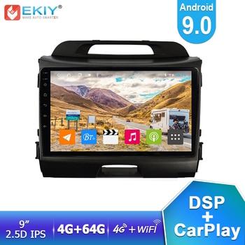 "EKIY 9"" IPS DSP 8Core Android 9.0 4G+64G Auto Radio For Kia Sportage 2010-2015 Car Multimedia GPS Navigation Stereo Video Player"