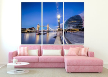 Modern Colorful Photo Picture London Lake Architecture Room Decor Cities Canvas Art Painting Living Bedroom