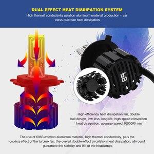 Image 4 - Eurs P9 led H4 H7 led 車のヘッドライト電球 100 ワット hi/lo ビーム H11 H8 H9 HB4 自動 led ヘッドライト H13 フォグライト D2S D4S hid 電球 13600LM