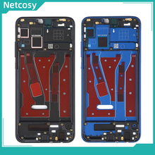 Netcosy pour Huawei Honor 8X cadre moyen plaque lunette couvercle du boîtier avec clé latérale pour Huawei Honor 8X JSN L21 L42 AL00 L22 couverture