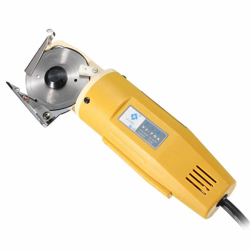 ที่มีประสิทธิภาพ 170W 70 มม.ผ้าไฟฟ้ามีดผ้าตัดเครื่องมือหนังผ้าไฟฟ้าเครื่องตัดชุดเลื่อยตัด 110 v/220 V
