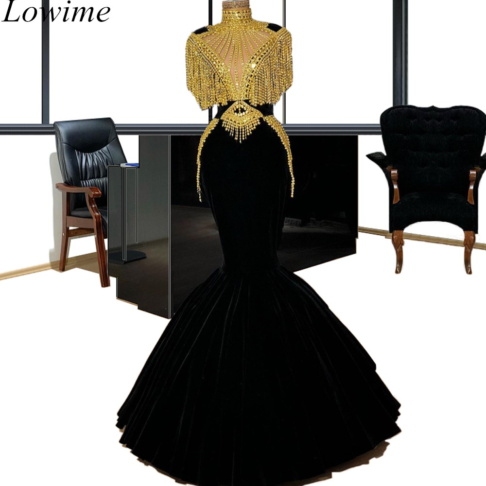 Arabic Luxury Long Celebrity Dresses 2019 Mermaid Gorgeous Pearls Couture Kaftan Red Carpet Dress Evening Gowns Party Ceremony
