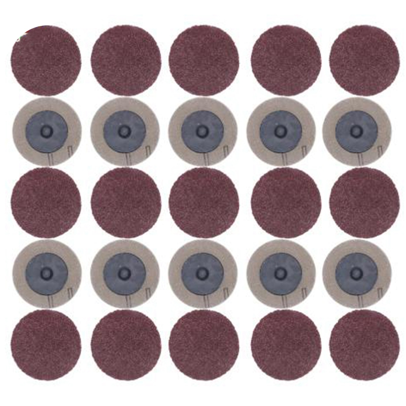 EASY-100Pcs Sanding Disc For Roloc 50Mm 40 60 80 120 Grit Sander Paper Disk Grinding Wheel Abrasive Rotary Tools Accessories