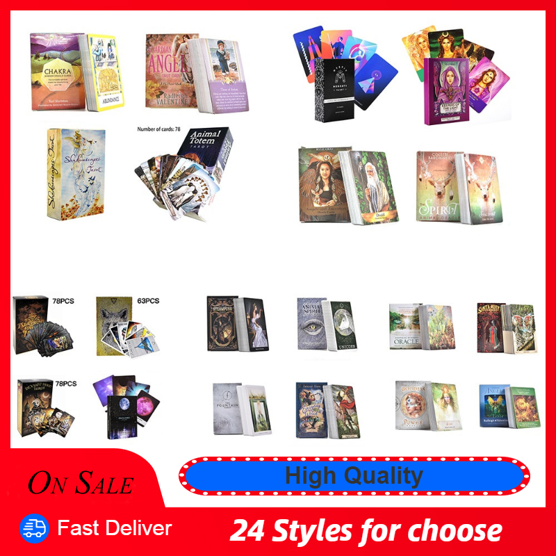 24 Style Tarot Cards Deck Playing Card Board Game English Divination Tarot Table Cards Holiday Family Gift Party Playing Card