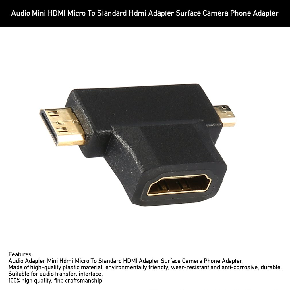 HDMI to VGA Converter With Audio Cable Male to Female for PC Laptop Tablet Support 1080P HDTV Adapter Hot Sales image