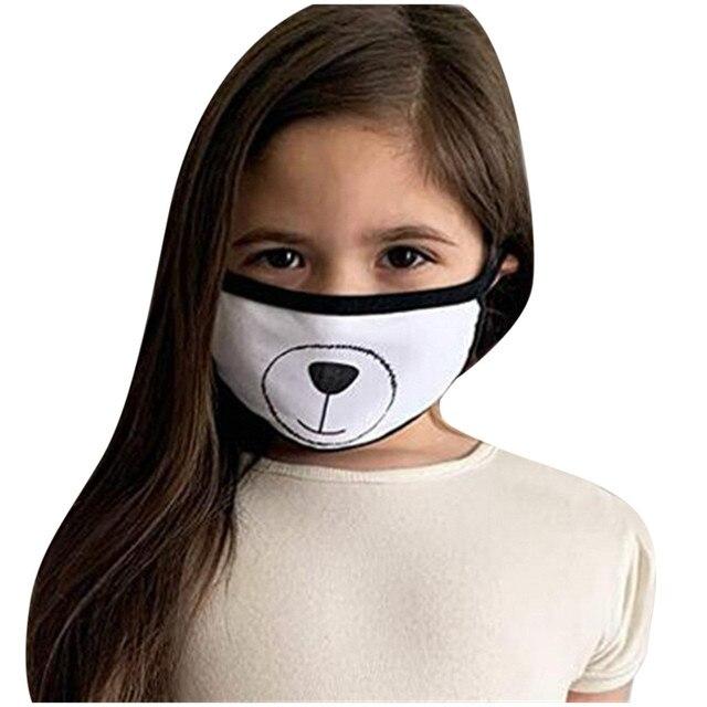 Korean Lovely White Dust Mask Kawaii Cotton Mouth Mask Cute Unisex Cartoon Mouth Muffle Face Mask Bear Mask0813 2