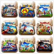 Set Bed-Linen-Set Duvet-Cover Game Odyssey-Switch Mario Single-Size King-Queen Double