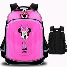 Disney Cartoon Minnie Schoolbag for Girl Mickey Backpack for Boy Waterproof Orthopedic School Backpack  Children Backpacks