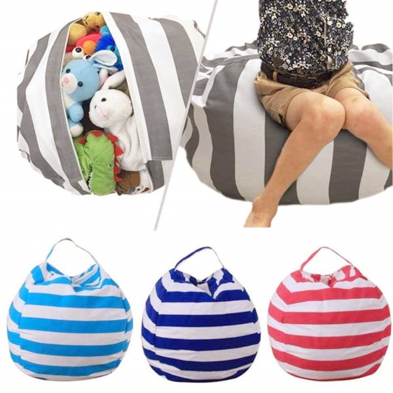 Stuffable Animal Toys Storage Bean Bag Stuffed Children Kids Plush Toy Organizer Multi-Purpose Large Capacity