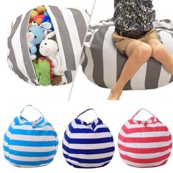 Stuffable Animal Toys Storage Bean Bag Stuffed Children Kids Plush Toy Organizer Multi-Purpose Large Capacity