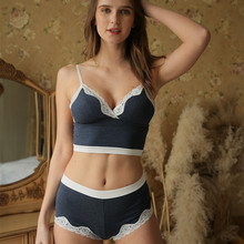 2019 New Fashion Design Europe Sexy Women Underwear Modal Bra Set Young Girls Lace Lingerie Sexy Push Cup Bra Sets JYF