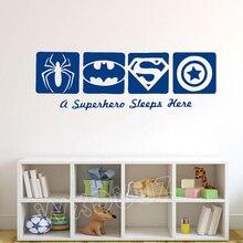 Disney Spiderman & BATMAN &CAPTAIN AMERICA Super Hero Kids Boy Room accessories Home Decor Vinyl Wall Sticker nursery Poster