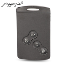 jinyuqin Key Shell 4 Buttons For Renault Laguna Koleos Megane Fob Remote Smart Card Key Case WIth Insert Small Key Blade