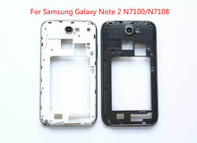 For Samsung Galaxy Note 2 N7100 N7108 N7105 Middle Frame Plate Bezel Housing Case back cover+ frame Mid Faceplate Frame Repair(China)