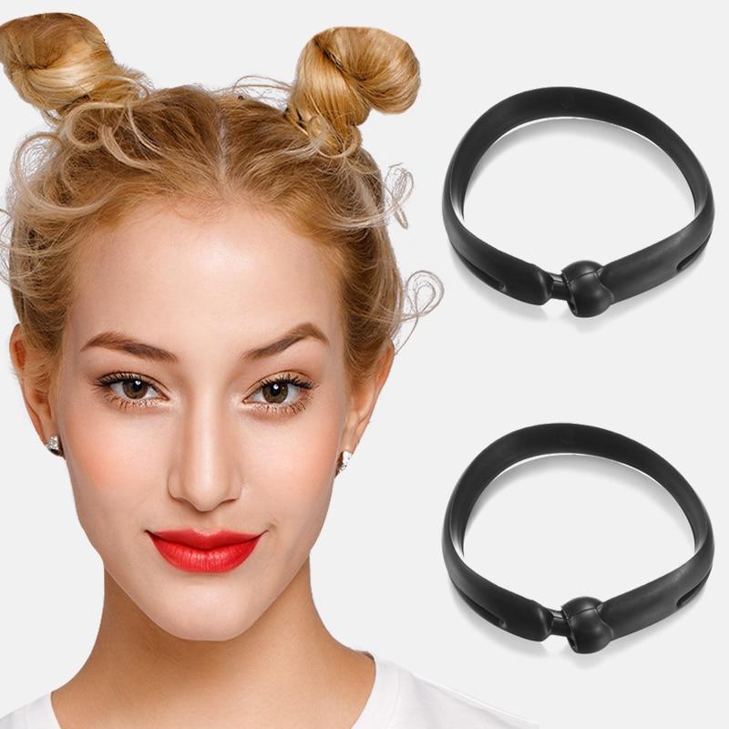 Новинка, волшебная повязка для волос, 2 шт., резинка для волос, круглая пончик «сделай сам», инструменты для укладки волос, повязка на голову для женщин, аксессуары для волос в Корейском стиле