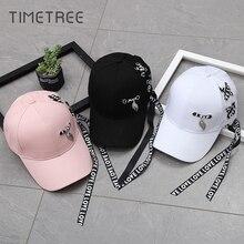 New Baseball Cap Fashion Long Belt Women Men Black Snapback Adjustable Hip-Hop Caps casquette homme