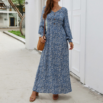 Long Sleeve Spring Elegant Retro Maxi  3