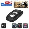 Mini câmera wifi keyfob câmera chave do carro 4 k uhd sensor camcorder movimento esporte dv câmera ip monitor de vídeo de segurança dvr micro câmera