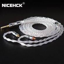 NiceHCK – câble pour écouteurs LitzPS Pro, 8 cœurs, 4N, argent pur, 3.5mm/2.5mm/4.4mm, MMCX/NX7/QDC/0.78, 2 broches, pour CIEM MK3 LZ A7