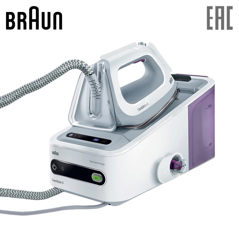 Electric iron Braun IS5043 steam generator steam station steamer garment for clothes household appliances steam generator polaris pss 7505 k handheld steamer for clothes steam generator for home steam cleaner home appliances steamer
