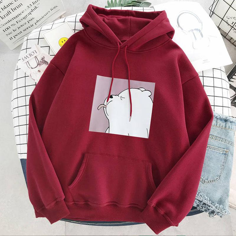 Hoodies oversized print Kangaroo Pocket Sweatshirts Hooded Harajuku Spring Casual Vintage Korean Pullovers Women sweetshirts 4