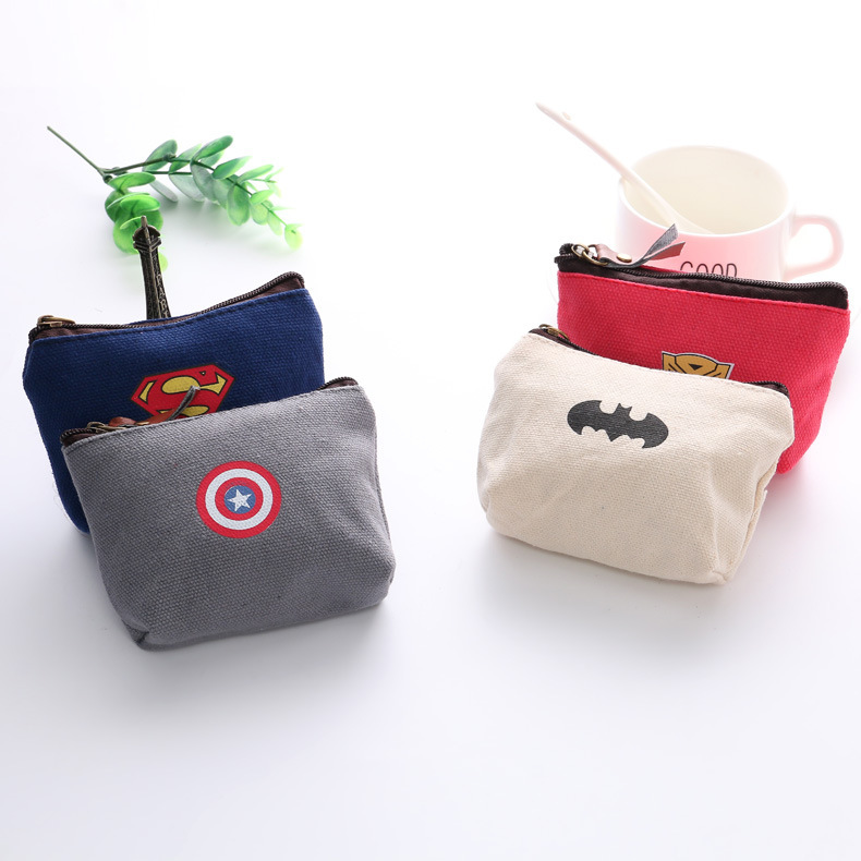 Korean-style League Canvas Coin Purse Key Cool Coin Bag Bank Card Storgage Bag