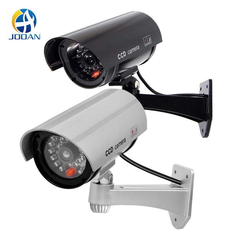Dummy Camera Waterproof Outdoor Security CCTV Surveillance Dummy Camera Bullet With LED Light