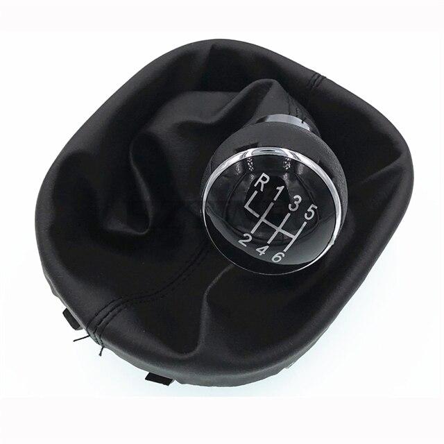 Новинка, 6 скоростей, рычаг переключения передач, заглушка для VW Touran Caddy MK2 2003-2010 2004-2009, кожаная заглушка передач для автомобиля, детали для бот...