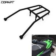 Para kawasaki klx 250 klx250 2008-2021 assento traseiro da motocicleta bagageiro suporte rack suporte de prateleira de carga alforje kit