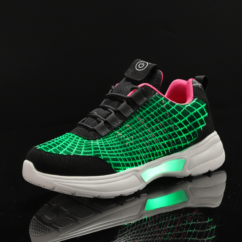 UncleJerry Luminous Sneakers New Fiber Optic Shoes For Women Men Boys Girls USB Rechargeable Shoes For Christmas Gift
