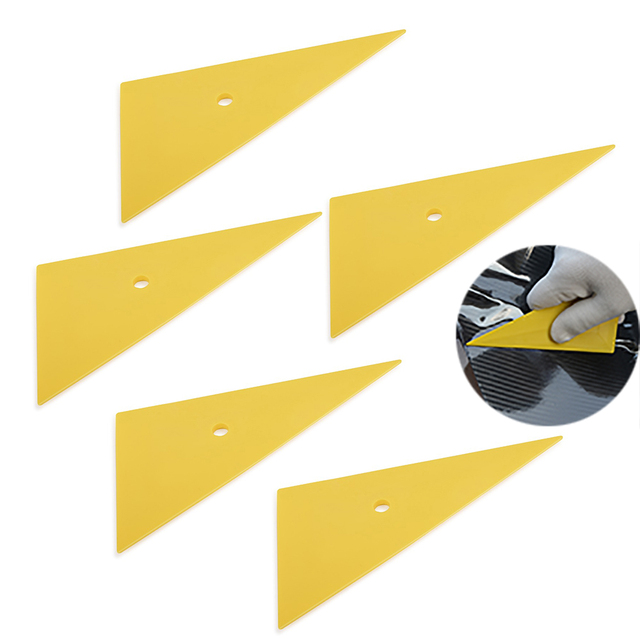 FOSHIO 5PCS 삼각형 이동 코너 비닐 스퀴지 탄소 섬유 필름 자동차 포장 도구 창 스티커 색조 비닐 포장 도구 스크레이퍼