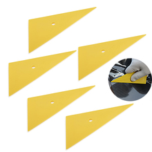 FOSHIO escurridor de vinilo de esquina triangular, película de fibra de carbono, herramientas de envoltura de coche, pegatina de ventana, tinte de vinilo, herramienta raspadora, 5 uds.
